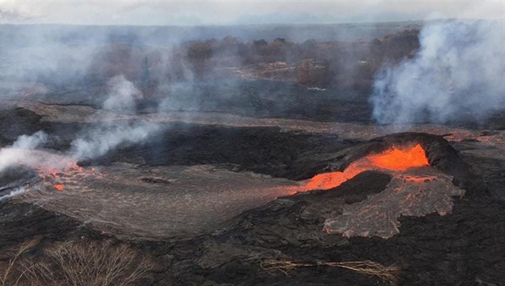 Imagen de archivo del flujo de lava del volcán Kilauea en Hawái