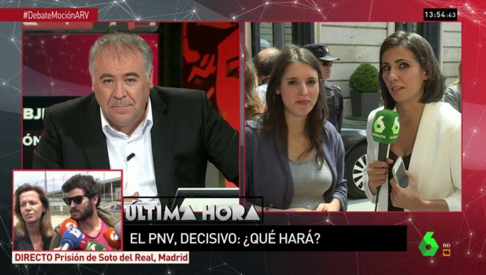 """Irene Montero, sobre la moción de censura a Rajoy: """"La semilla que sembramos hace un año va a florecer"""""""