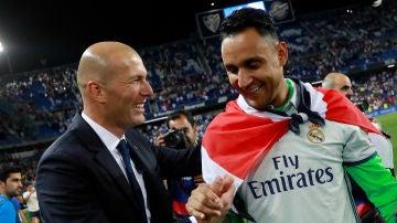 Zidane y Keylor se dan la mano