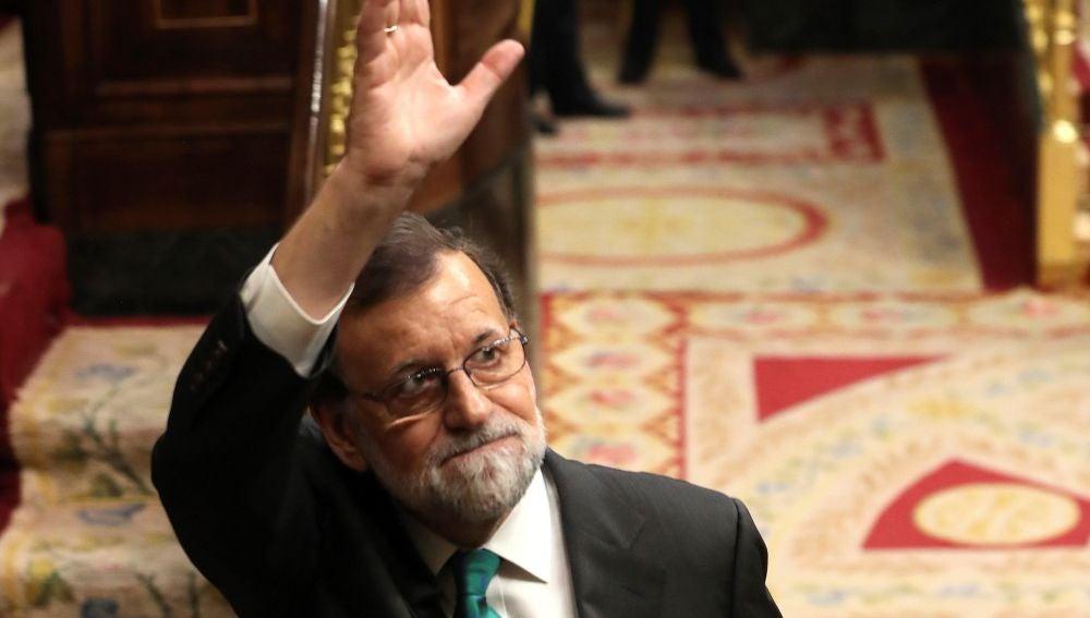 Rajoy al salir del debate de la moción de censura