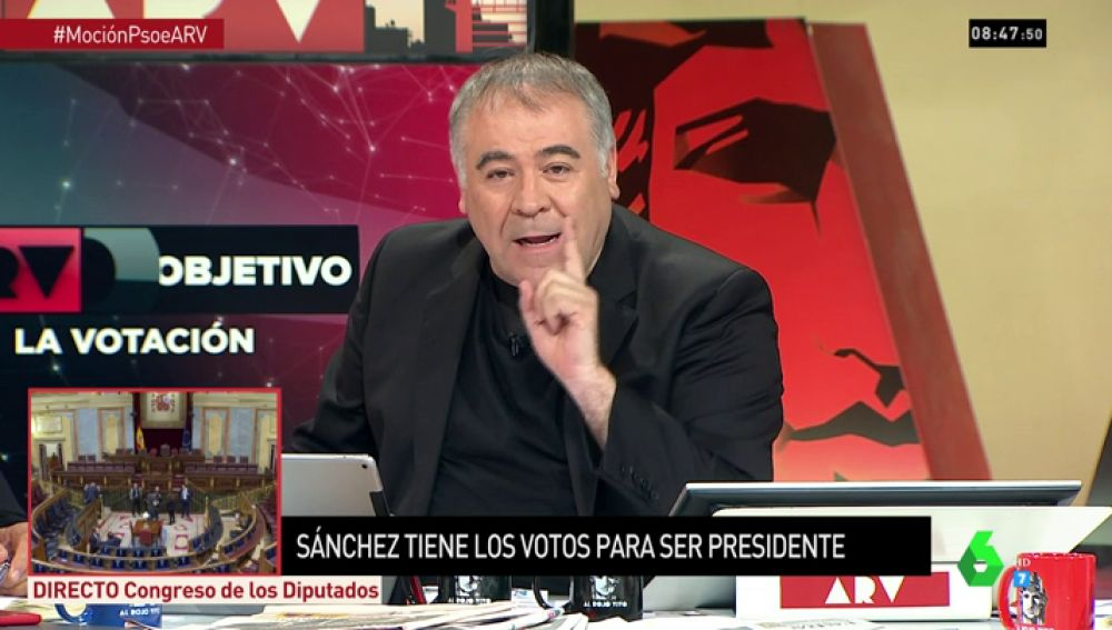 """La contundente respuesta de García Ferreras al enfado de Celia Villalobos con laSexta: """"Están mintiendo"""""""