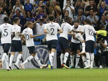 Francia celebra un gol