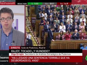 """<p>Íñigo Errejón: """"Con 84 diputados es más difícil gobernar que con nuestros 70. Nos ponemos a disposición de Pedro Sánchez""""</p>"""