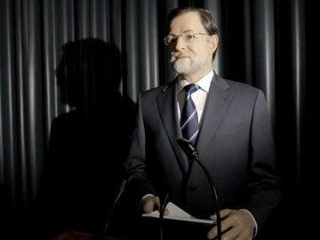 La figura del presidente del Gobierno, Mariano Rajoy, en el Museo de Cera de Madrid (Archivo)