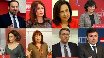 Diputados socialistas que podrían formar el Gobierno de Pedro Sánchez