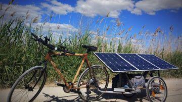 Imagen de la bicicleta solar de la iniciativa de Zima Project