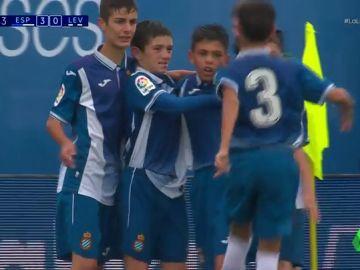 <p>Un doblete de Enric García ante el Levante encamina al Espanyol a la final de LaLiga Promises</p>