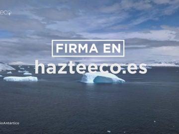 Firma para pedir la protección del Antártico