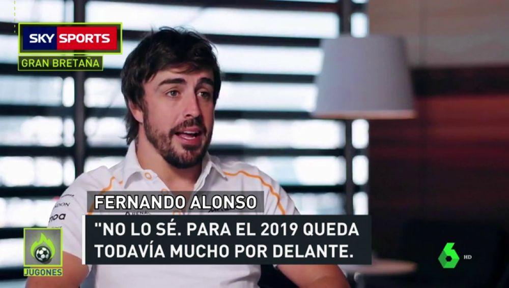 """Alonso: """"No sé qué haré la próxima temporada"""""""