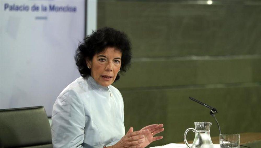 La portavoz del Ejecutivo, Isabel Celaá