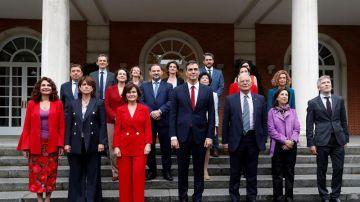 Foto de familia del Gobierno de Pedro Sánchez