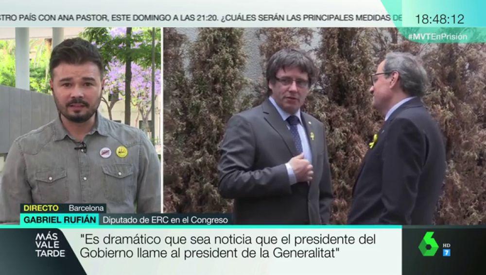 """Gabriel Rufián: """"Ley Mordaza, LOMCE, subir el salario mínimo interprofesional… siempre podrán contar con ERC"""""""