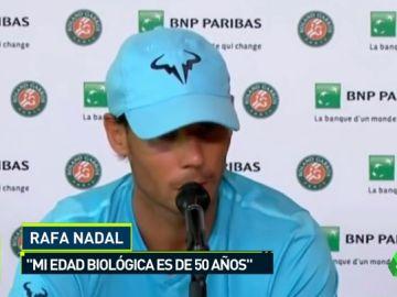 """Nadal: """"¿El cuerpo de Cristiano tiene 23 años? El mío, cuarenta y pico"""""""