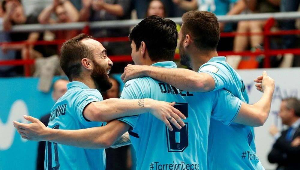 El Movistar Inter celebra un gol