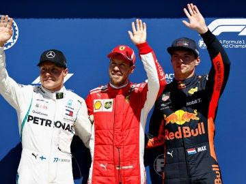 Vettel, Bottas y Verstappen, los más rápidos de la Q3 de Canadá