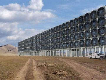 Convertir el CO2 en combustible a través de un sistema compuesto por 'ventiladores'