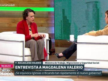 Magdalena Valerio con Cristina Pardo