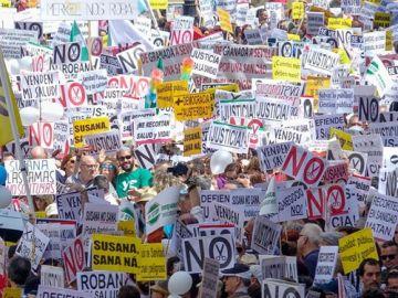 Imagen de la manifestación en Sevilla