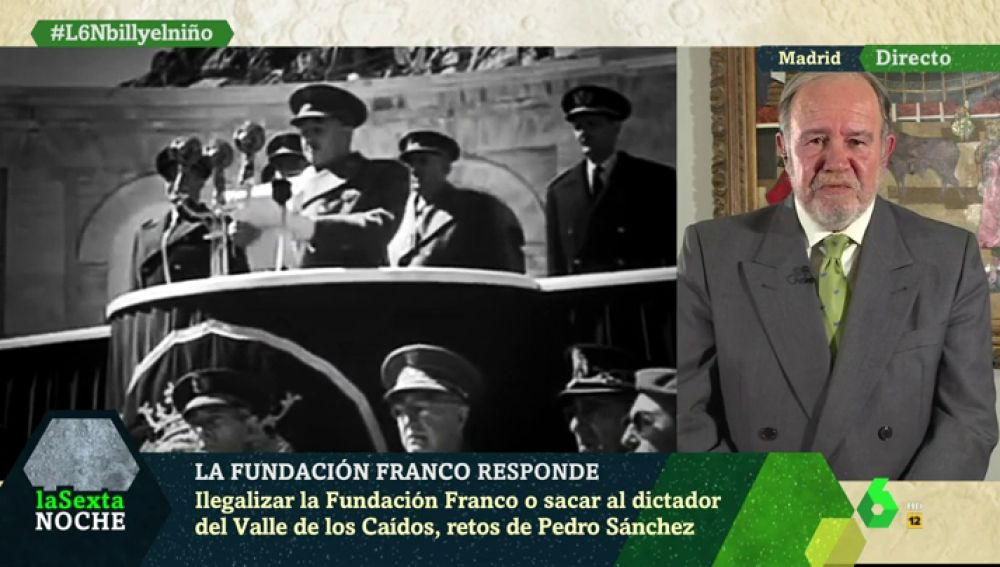 Juan Chicharro, presidente de la fundación Francisco Franco