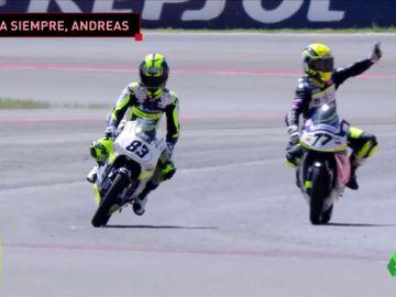 Andreas Pérez no pudo vencer en la carrera de su vida