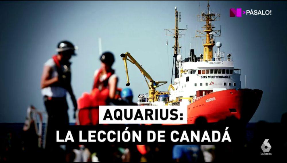 ¿Qué hacemos con los 629 migrantes del Aquarius?: Canadá tiene la solución