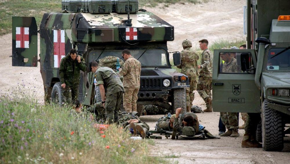 Militares heridos tras unos ejercicios de paracaidismo