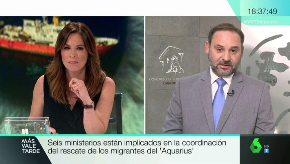 """José Luis Ábalos, sobre el Aquarius: """"No son emigrantes, son personas que sufren una crisis humanitaria"""""""