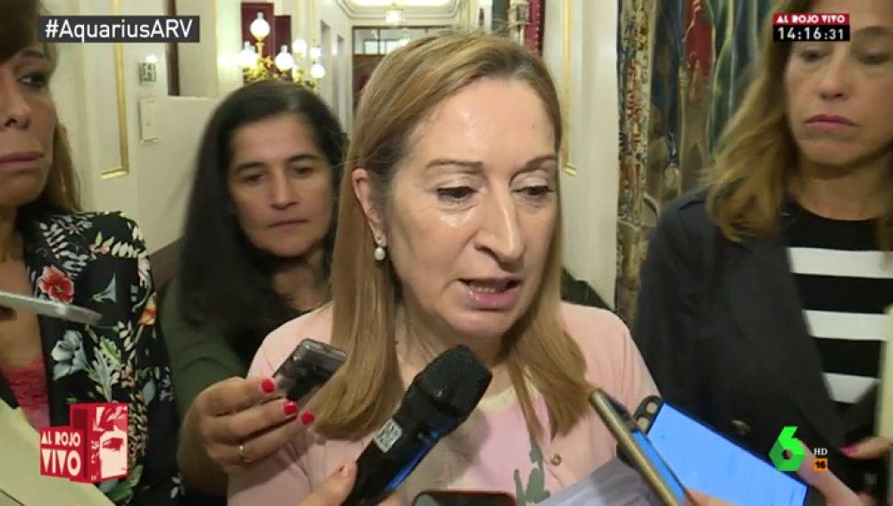 """Ana Pastor se desmarca de los ataques del PP al rescate del Aquarius: """"Todo lo que sea comportamiento humanitario será bienvenido siempre"""""""