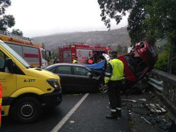Imagen del accidente en Carnota