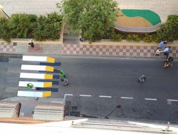 Primer paso de peatones en 3D en España