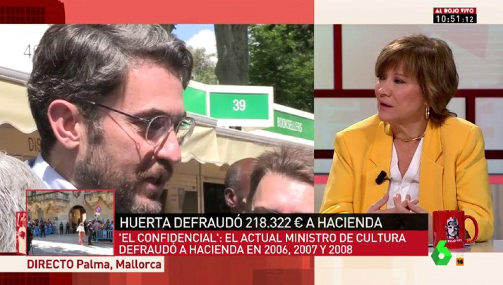 """Nativel Preciado: """"No creo que Màxim Huerta sea un delincuente fiscal, pero lo lógico sería que se fuera antes de que lo 'mataran'"""""""