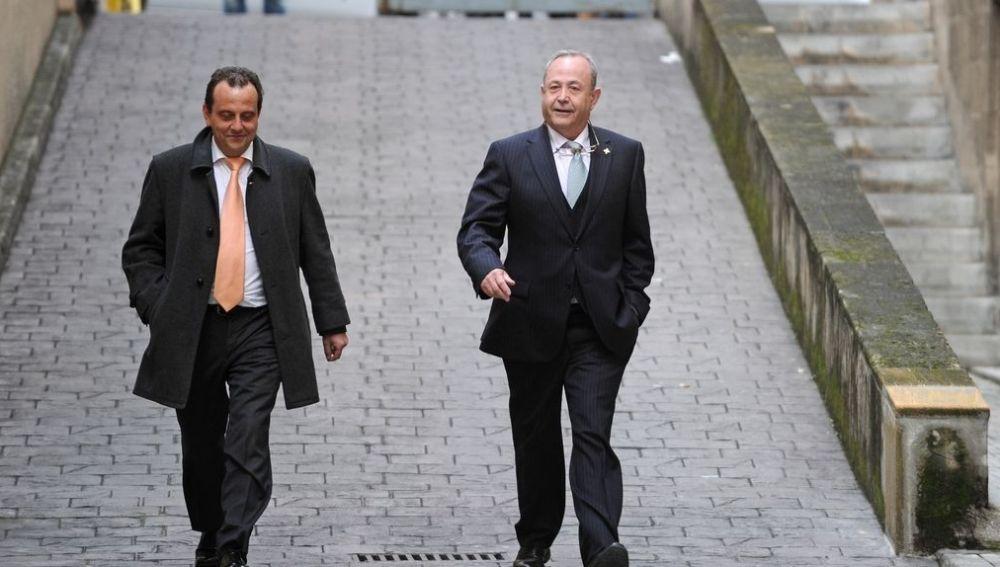 Horrach y Castro en los juzgados de Palma