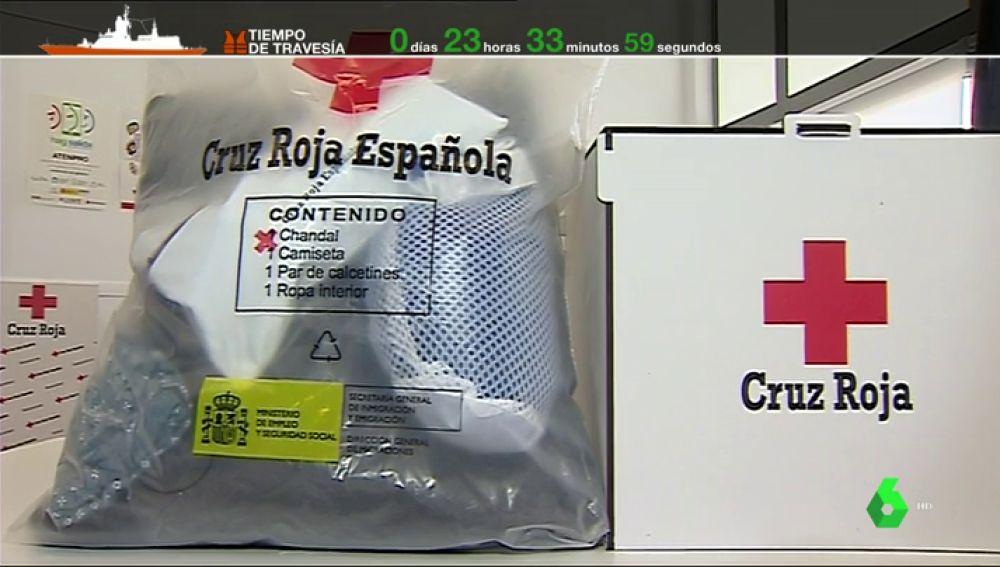 Kit que se entregará a los migrantes que lleguen a Valencia