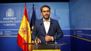 Màxim Huerta dimite como ministro de Cultura y Deporte