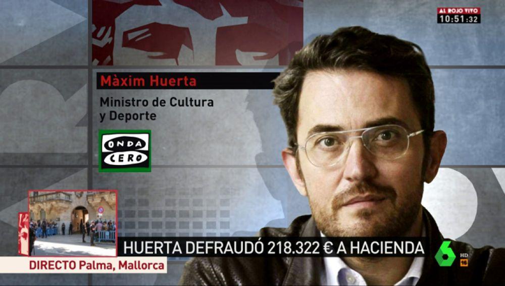 """Màxim Huerta no se plantea dimitir: """"Estoy al corriente con Hacienda desde hace 10 años"""""""