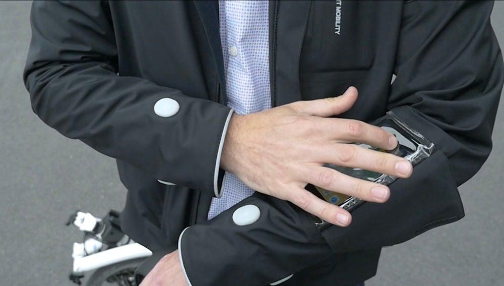La chaqueta inteligente para ciclistas