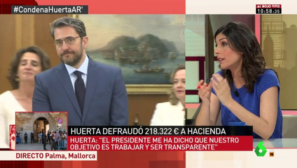 """Raquel Ejerique: """"Màxim Huerta debe dimitir, es un ministro que no creyó en los impuestos, fundamentales para la igualdad y la solidaridad"""""""