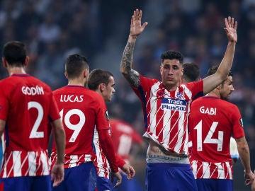 José María Giménez, en un partido con el Atlético de Madrid