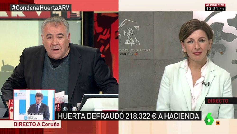 """Yolanda Díaz: """"Alerta a los pensionistas, no hay un acuerdo. El problema es que la comisión es a puerta cerrada"""""""