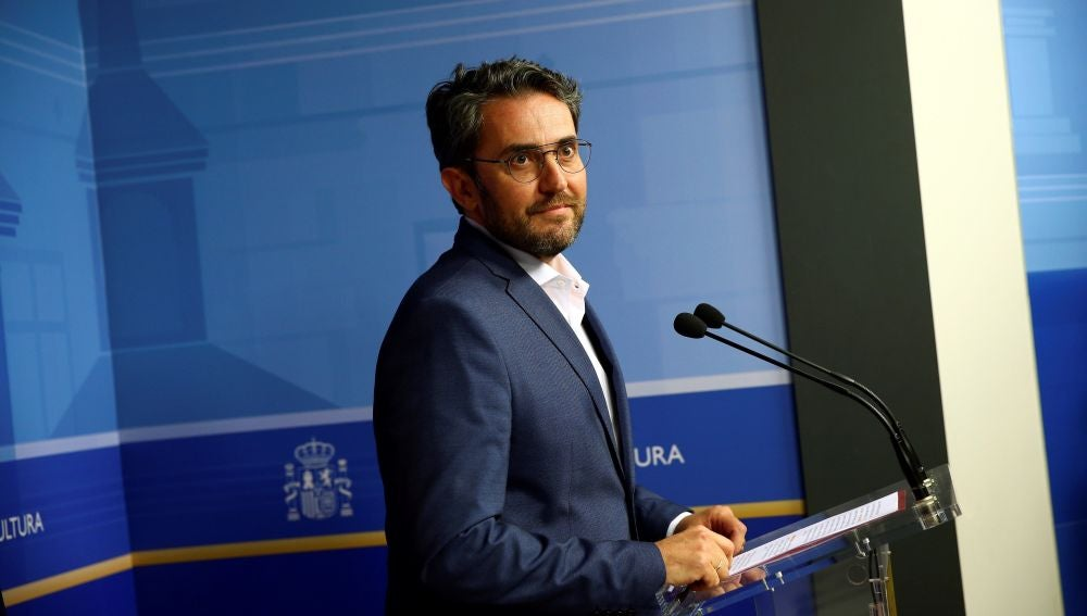 Màxim Huerta en su comparecencia de dimisión como ministro de Cultura y Deporte