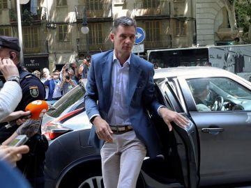 Iñaki Urdangarin, a su llegada a la Audiencia de Palma