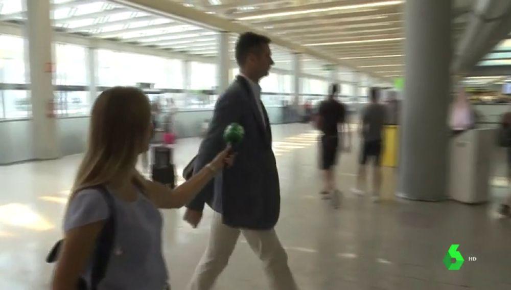 Iñaki Urdangarin en el aeropuerto de Palma