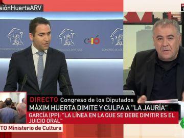 """Ferreras atiza al """"ridículo público"""" del PP en boca de Teodoro García: Máxim Huerta """"está condenado"""" y lo de Ana Mato """"no es penal"""""""