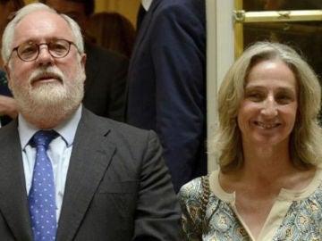 Arias Cañete y su mujer, Micaela Domecq