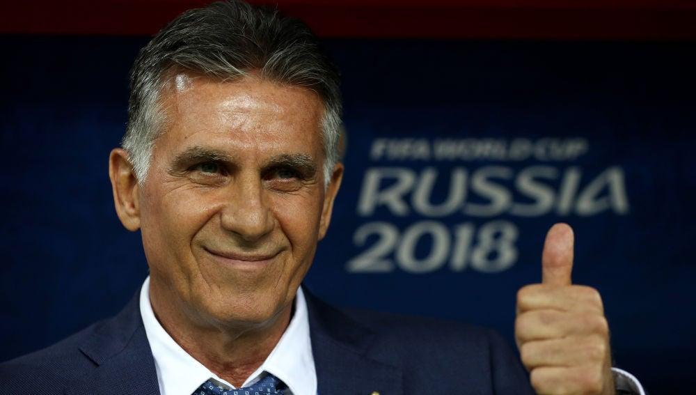 Carlos Queiroz, durante el partido contra España