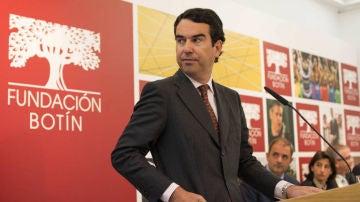 Javier Botín en una comparecencia pública