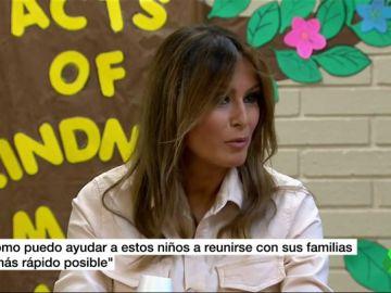 """Melania Trump visita a los niños migrantes en la frontera con México: """"Quiero ayudarles a reunirse con sus familias"""""""