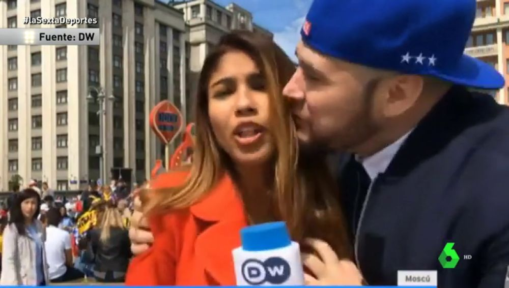 Video periodista acosada sexualmente