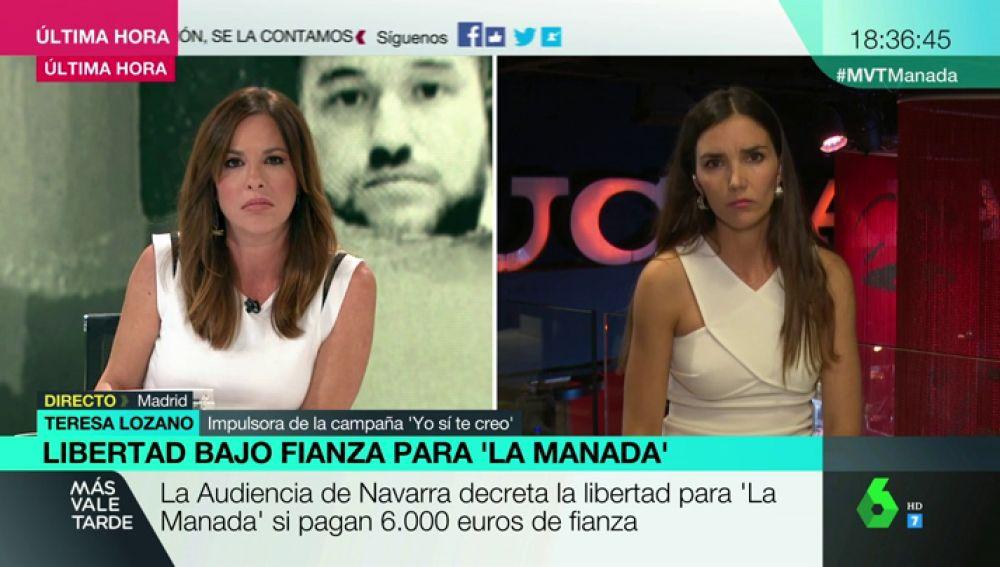Teresa Lozano, impulsora de la campaña 'Yo sí te creo'