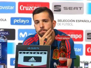 Jordi Alba, en rueda de prensa